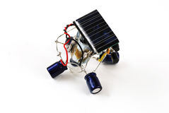 Solar energy robot Stock Photo