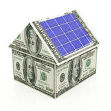 Solar energy savings Royalty Free Stock Image