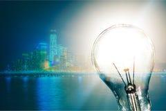 Solar energy. Light bulb solution resourceful energy environment alternative energy Stock Photos