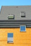 Solar Energy, Solar Panels, Skylights, Ventilation. Modern windows and attic skylights designs. Stock Photography