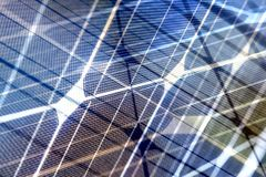 Solar energy spectrum with grid lines Royalty Free Stock Photo
