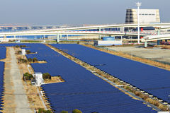 Solar energy station Stock Photo