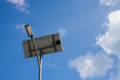 Solar energy street lamp Royalty Free Stock Photos