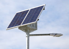Solar energy Street lamp with photovoltaic cells. Solar energy Street lamp with the last generation photovoltaic cells Stock Photo