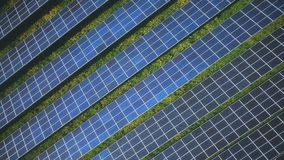 Solar energy sun electricity generator environment stock video footage