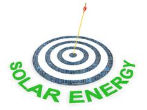 Solar Energy Target. Concept in 3D Stock Image