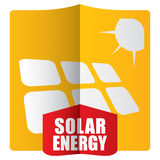 Solar energy template concept Royalty Free Stock Image
