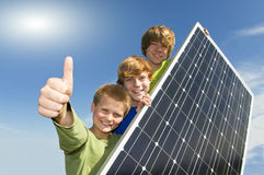 Solar energy - thumbs up #2 Stock Photos