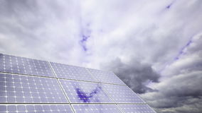 Solar energy (time lapse) stock video footage