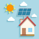Solar energy to house Royalty Free Stock Photos
