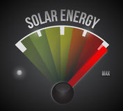 Solar energy to the max illustration design Royalty Free Stock Image