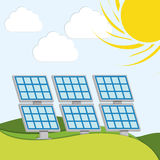 Solar energy vector Royalty Free Stock Photos