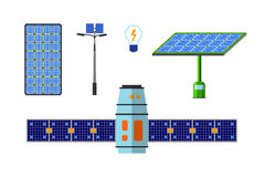 Solar energy vector set. Royalty Free Stock Images
