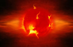Solar eruption. S and explosions in space Royalty Free Stock Photos