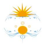 Solar fantasy. Fantasy stylized sun on a white background Stock Photo