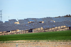 Solar Farm Stock Photo