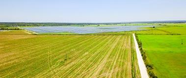 Solar farm aerial in Austin, Texas, USA Royalty Free Stock Photos