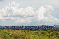 The solar farm for green energy in Thailand Stock Photography