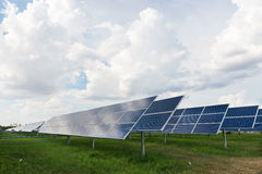 The solar farm for green energy in Thailand Royalty Free Stock Photos