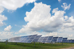 The solar farm for green energy in Thailand Stock Images