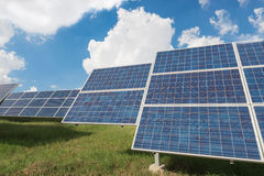 The solar farm for green energy in Thailand Stock Image