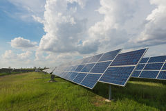 The solar farm for green energy in Thailand Stock Photo