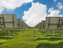 The solar farm for green energy in Thailand Royalty Free Stock Photography