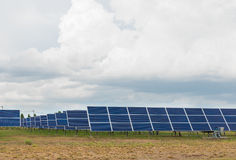 The solar farm for green energy in Thailand Royalty Free Stock Image