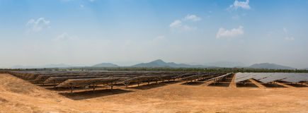 The solar farm for green energy in Thailand Royalty Free Stock Photo