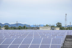 Solar farm panels Royalty Free Stock Images