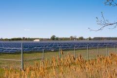 Solar farm stock photography