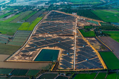 Solar farm solar panels. Aerial photo solar farm solar panels Royalty Free Stock Photo