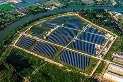 Solar farm solar system. Aerial photo solar farm solar system Royalty Free Stock Image