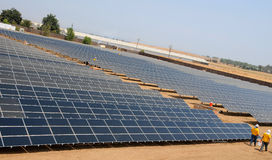 Solar Farm Under Construction 2 Royalty Free Stock Photography
