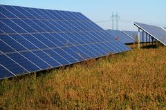 Solar field Royalty Free Stock Images