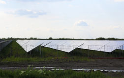 Solar field Royalty Free Stock Photos