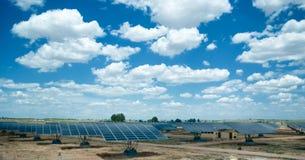 Solar field. In sunny Spain Royalty Free Stock Photo