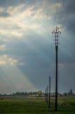 Solar fields Belarus. Stock Photo