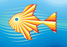 Solar fish in the sea 3 Stock Photos