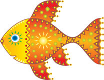 Solar fish. Vector drawing. Stock Photos