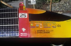Solar Flair solar powered car, CA Royalty Free Stock Image