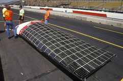 Solar Flair solar powered car at the Solar and Electric 500, AZ Royalty Free Stock Photo