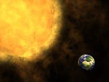 Solar flare Stock Image