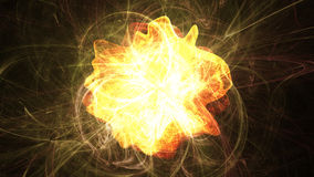 Solar Flare. Illustration of an exploding solar flare with spherical flares Stock Photography
