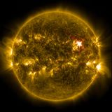 Solar Flare, Sun, Eruption, Energy Stock Images