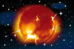 Solar flares Stock Photography