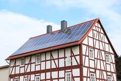 Solar_frame_house fotografia de stock
