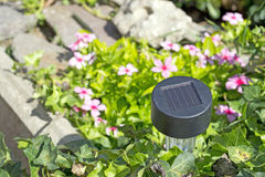 Solar garden light Stock Images