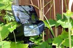 Solar garden light Stock Photography