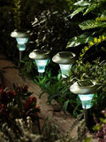 Solar garden lights Stock Photo